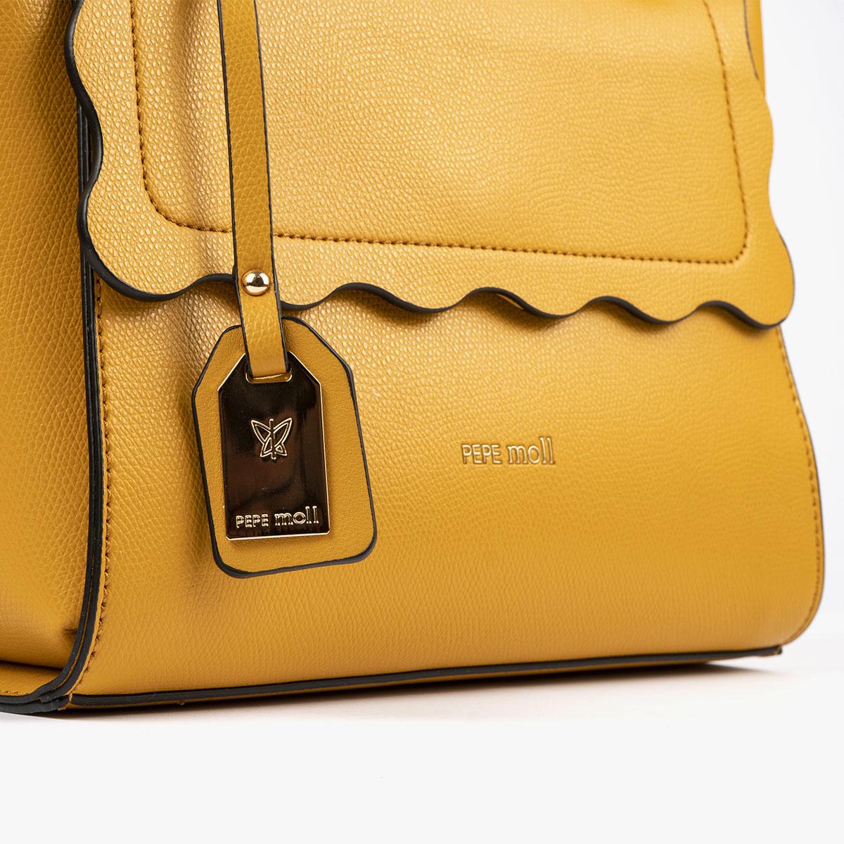 bolso de mano amarillo 22122