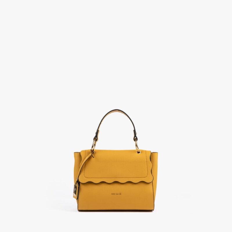 bolso de mano amarillo 22122 frontal