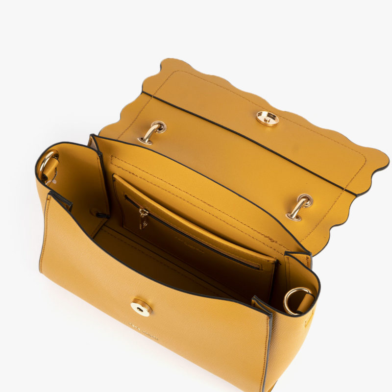 bolso de mano amarillo 22122 interior