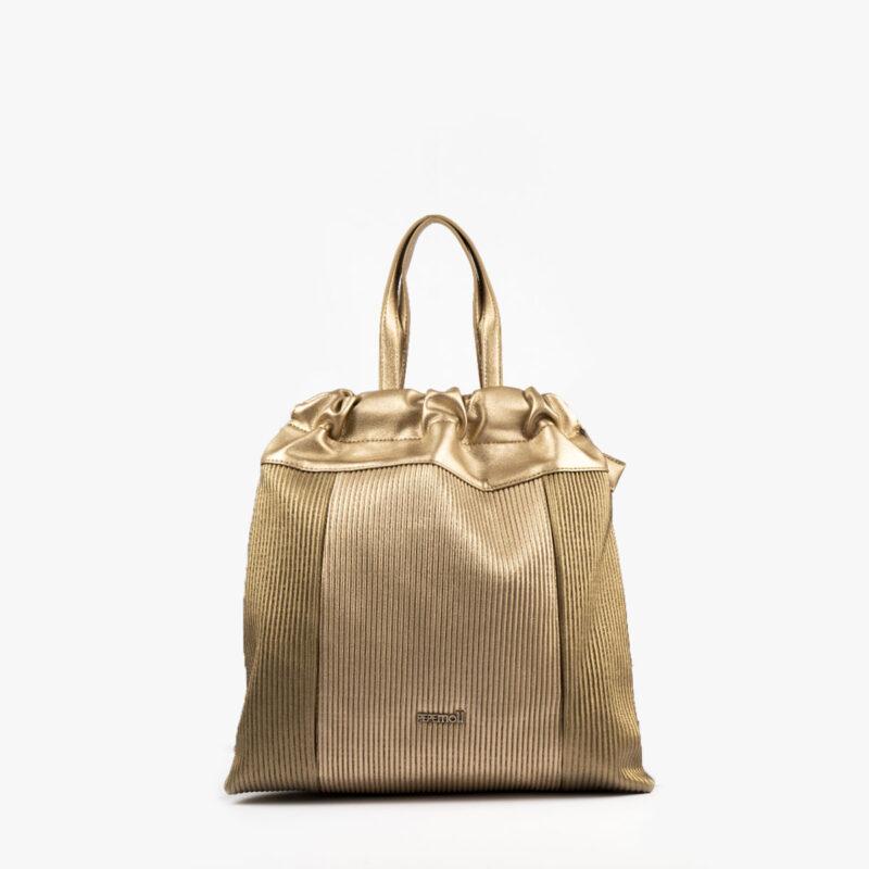 44120 bolso de mochila dorado pepemoll frontal