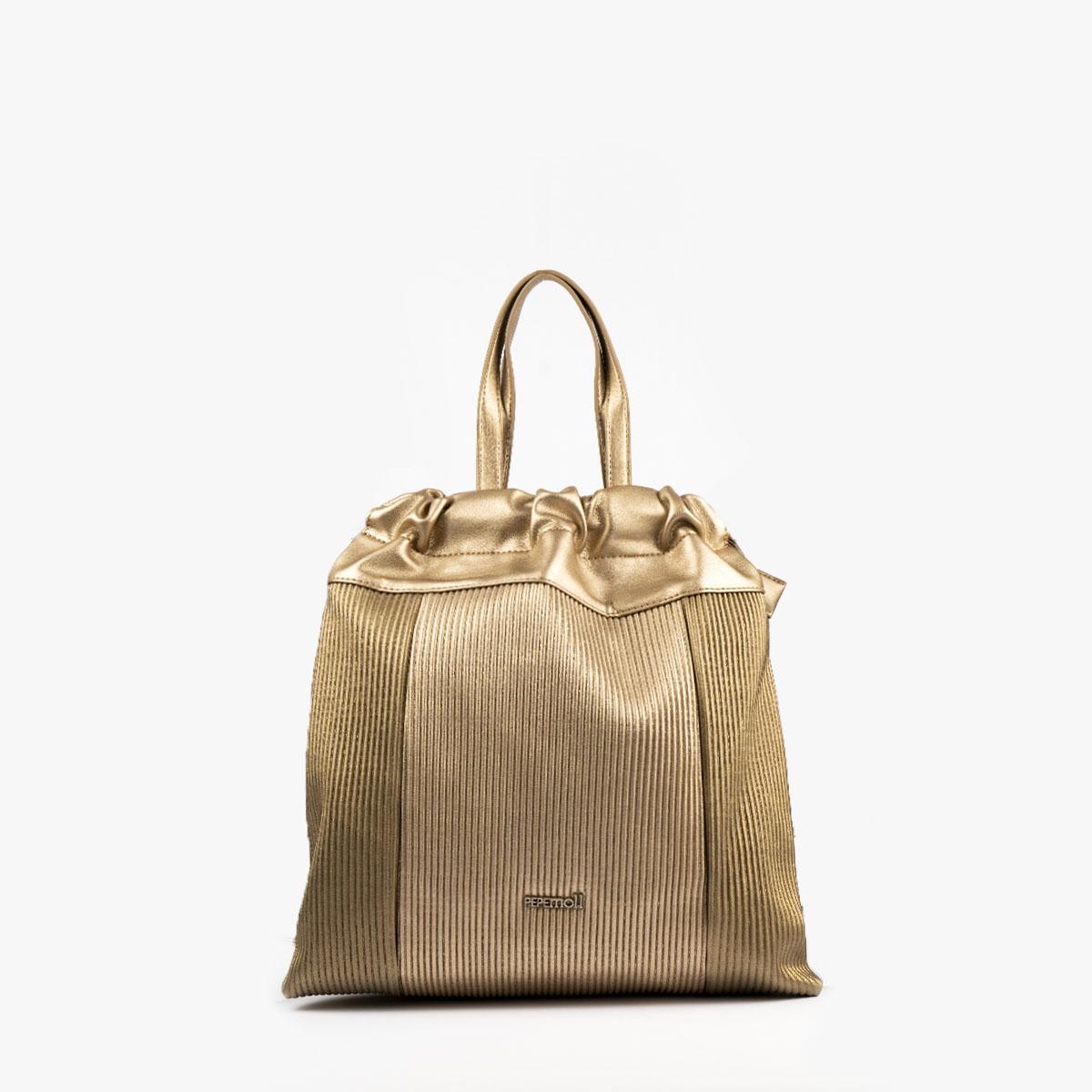 44120 bolso de mochila dorado pepemoll