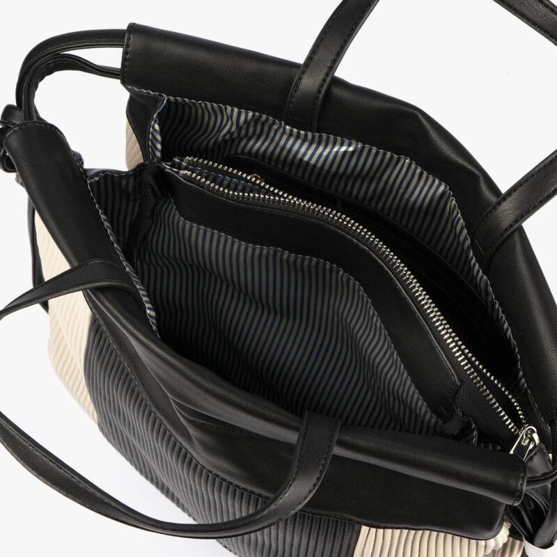 44120 bolso de mochila dorado/negro pepemoll interior (1)