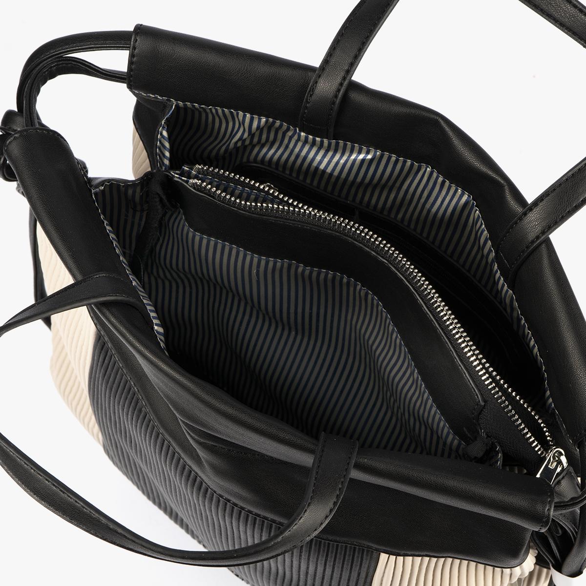 44120 bolso de mochila dorado/negro pepemoll