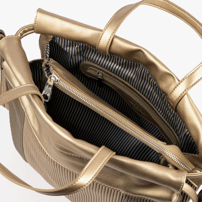 44120 bolso de mochila dorado pepemoll interior