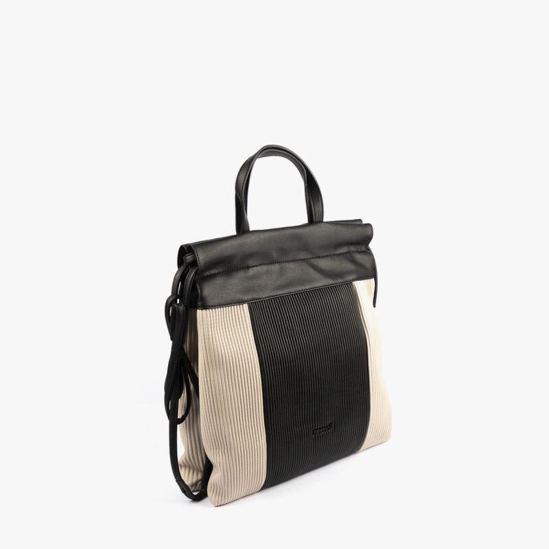 44120 bolso de mochila dorado/negro pepemoll perfil (1)