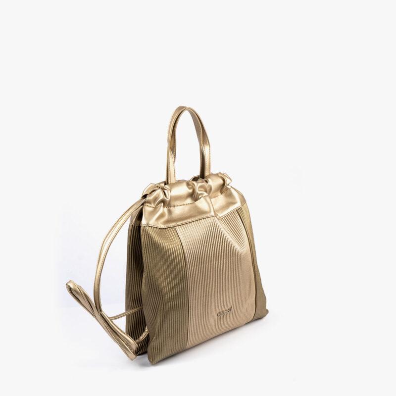 44120 bolso de mochila dorado pepemoll perfil