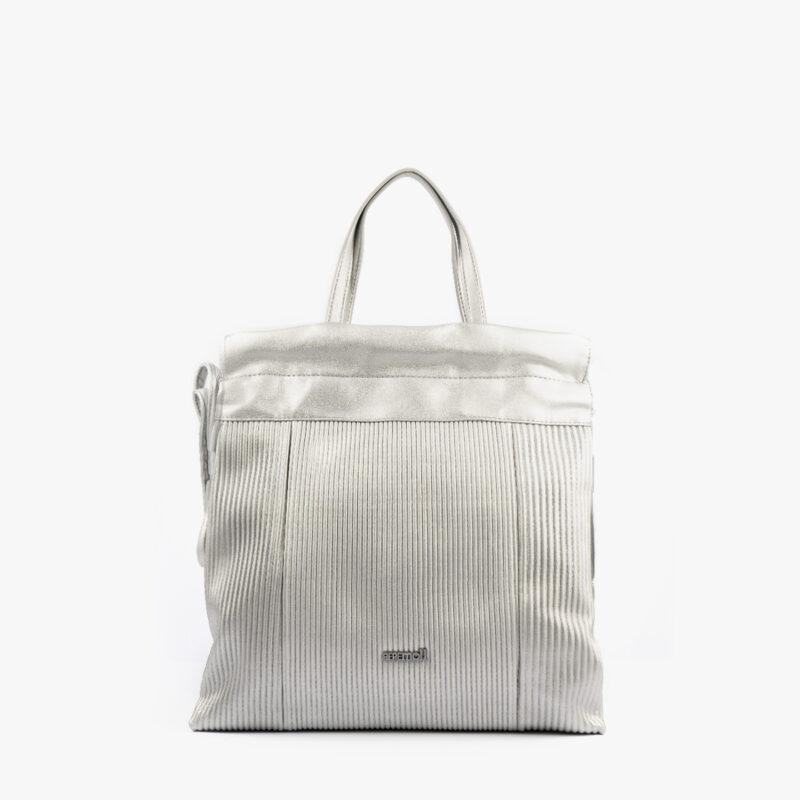44120 bolso mochila plata pepemoll frontal