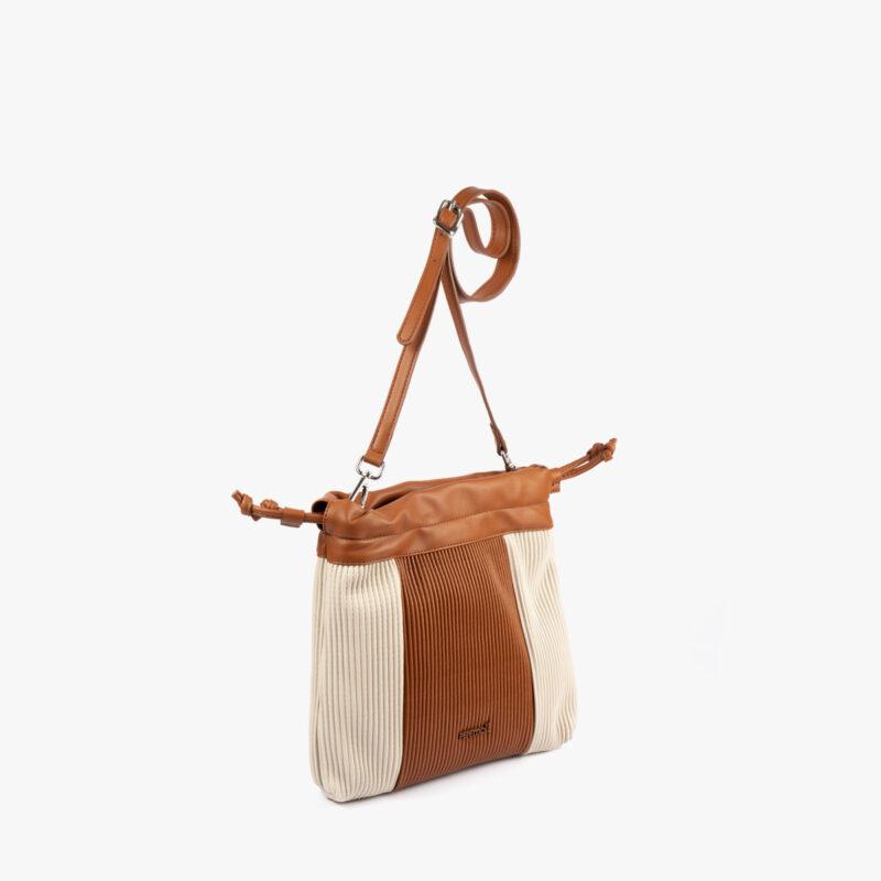 44121 bolso bandolera camel/beige pepemoll perfil