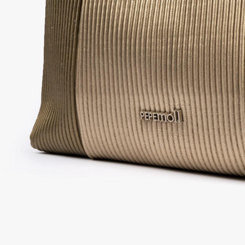 44121 bolso bandolera dorado pepemoll detalle