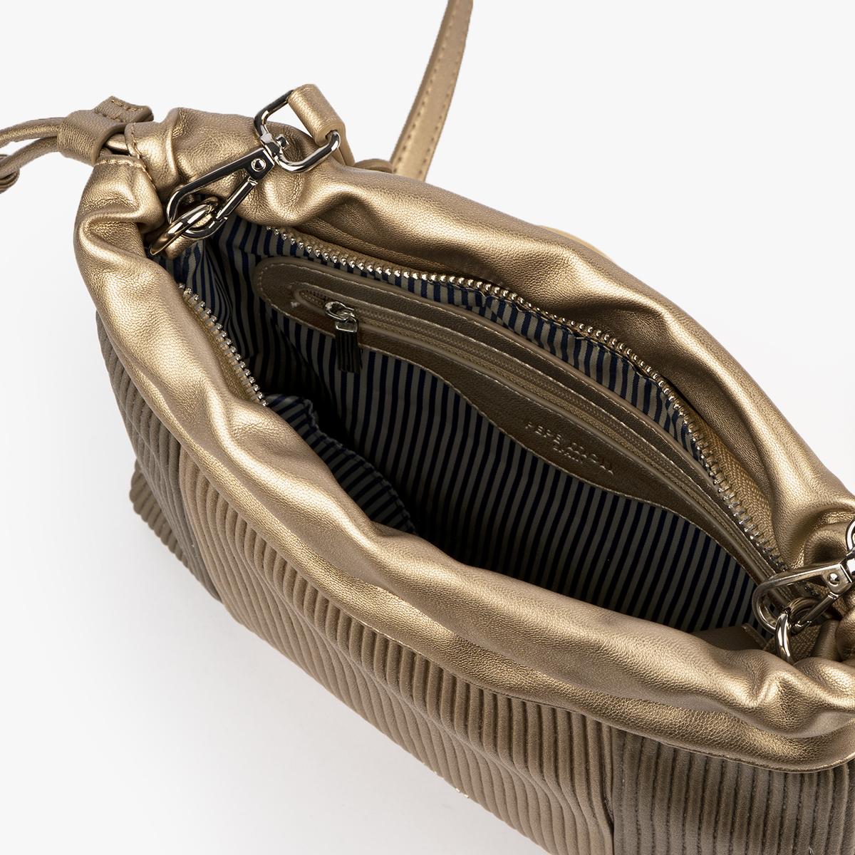 44121 bolso bandolera dorado pepemoll
