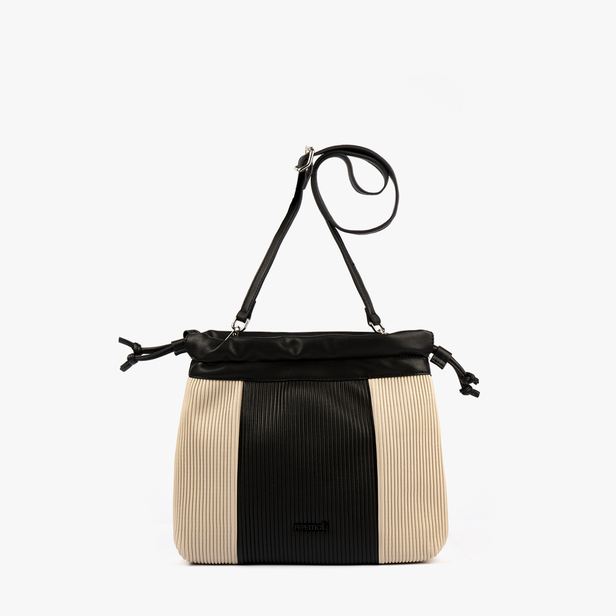 44121 bolso bandolera negro/beige pepemoll