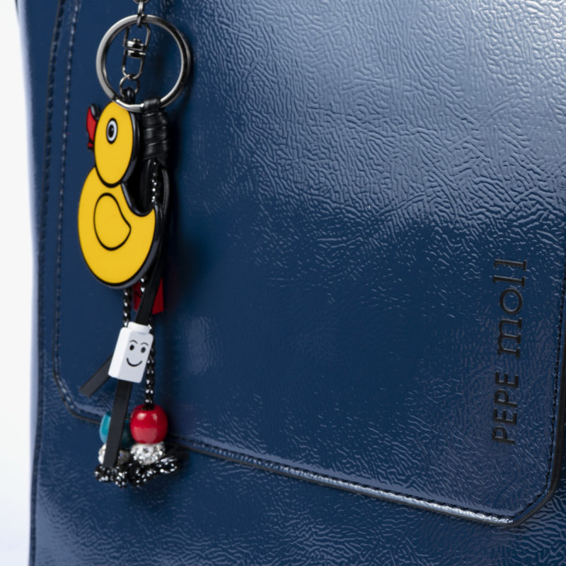 49117 bolso bandolera azul detalle