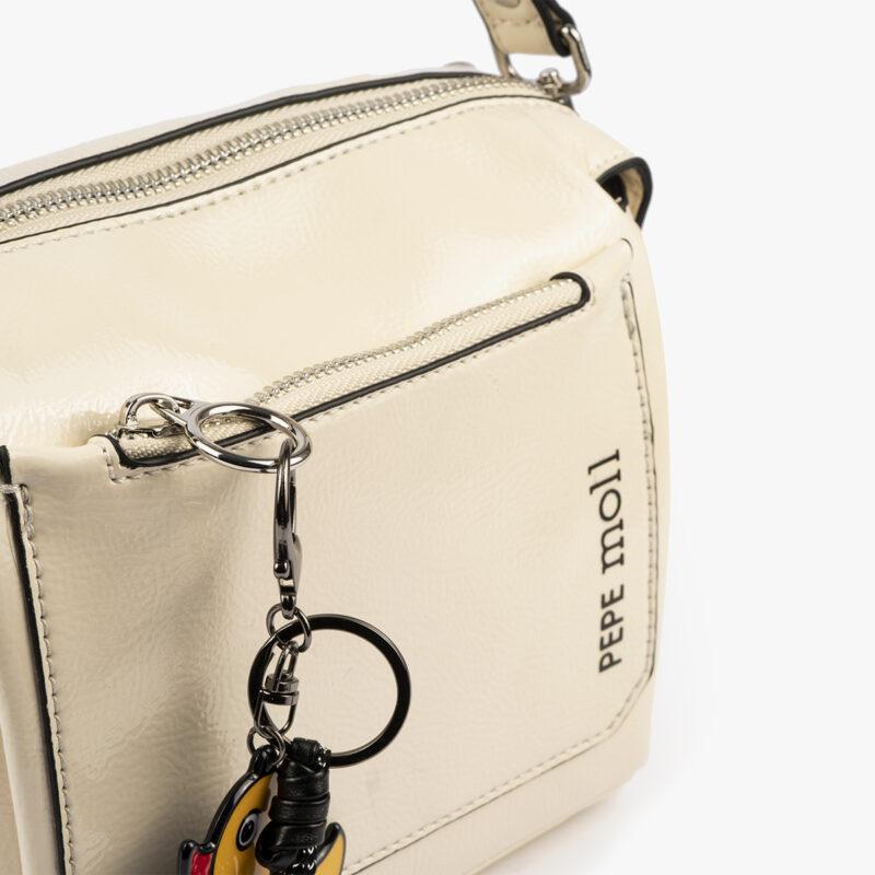 49118 bolso de hombro blanco pepemoll detalle
