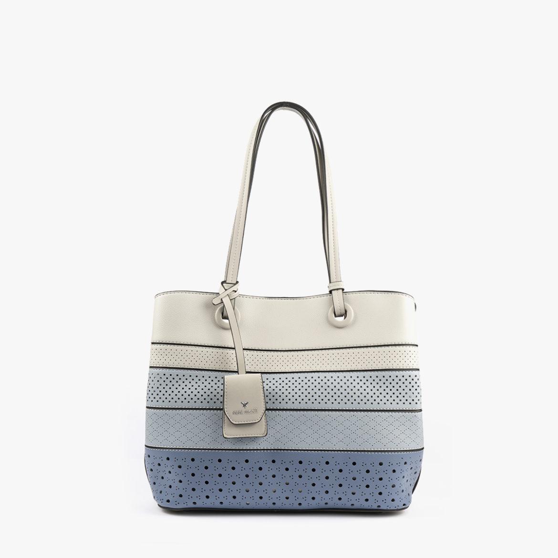bolso de hombro tricolor azul