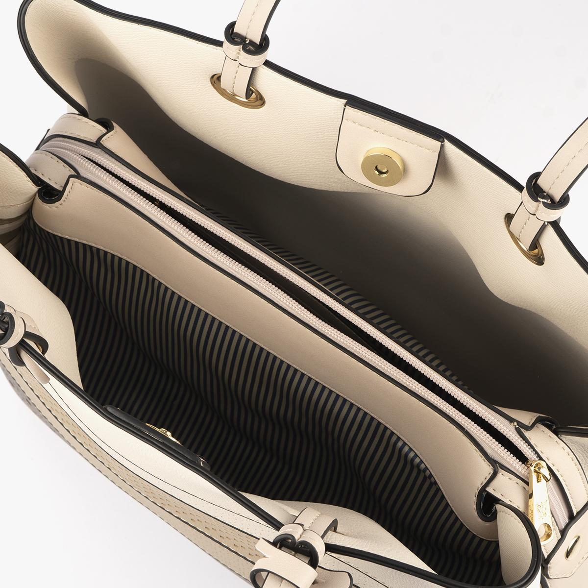 52050 bolso de hombro tricolor dorado