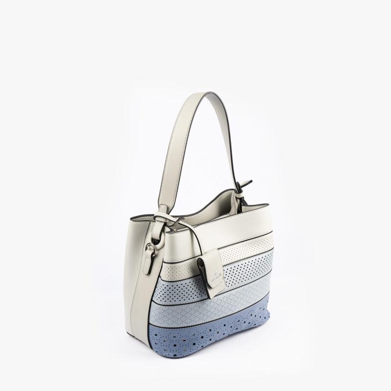52051 bolso de hombro tricolor azul perfil