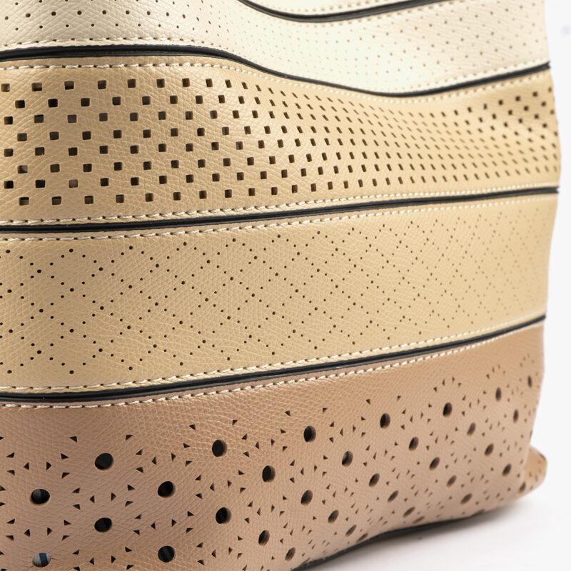 52051 bolso de hombro tricolor arena detalle