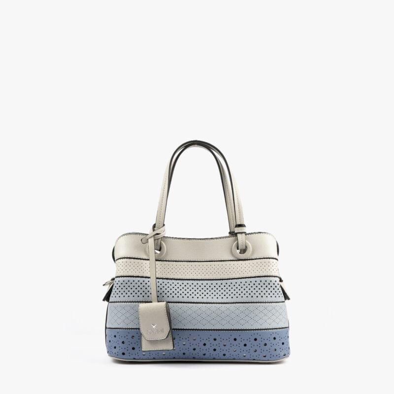 52051 bolso de mano tricolor azul frontal