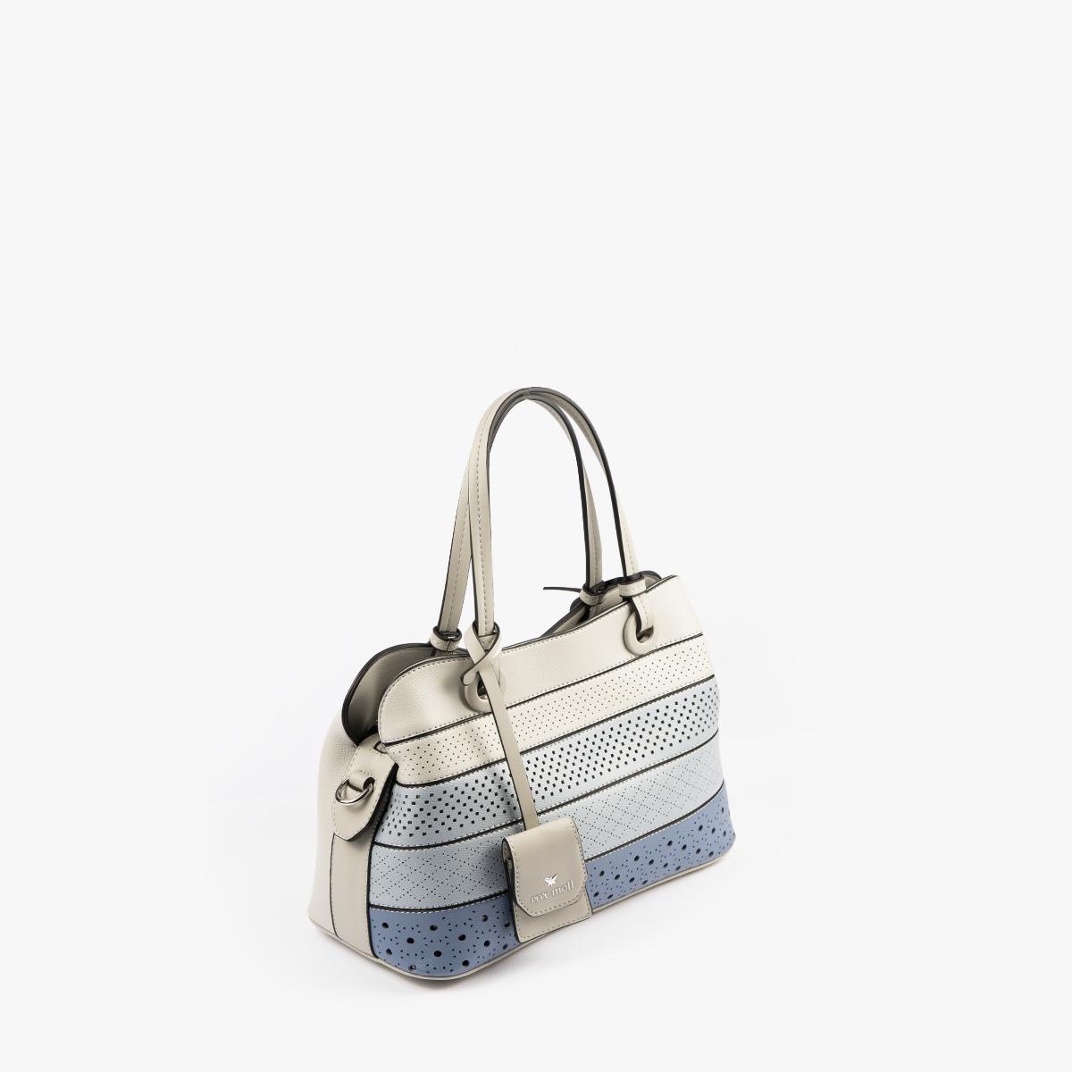 52051 bolso de mano tricolor azul