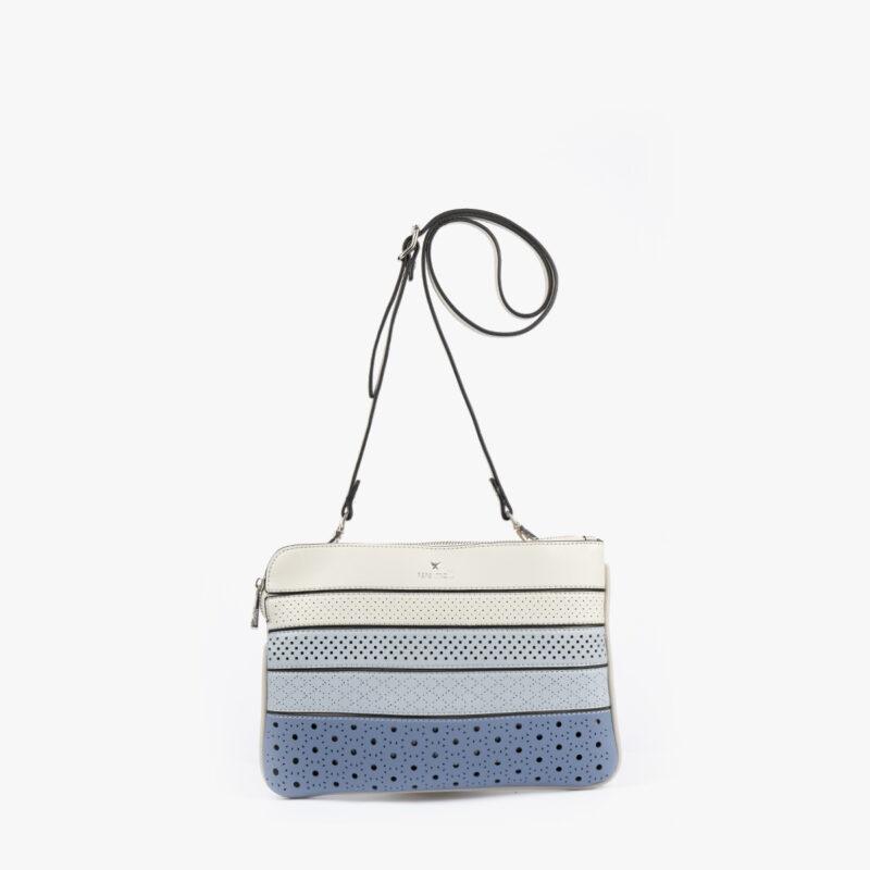 52053 bolso bandolera tricolor azul frontal
