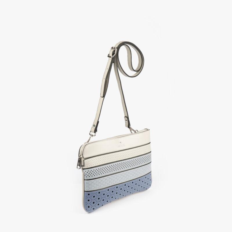 52053 bolso bandolera tricolor azul perfil