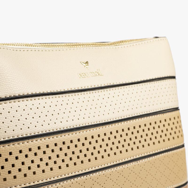 52053 bolso bandolera tricolor arena detalle