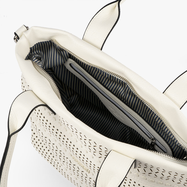 58016 bolso de mano blanco pepemoll