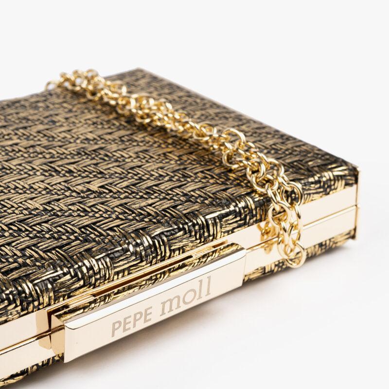 61030 rafia met negro gold detalle