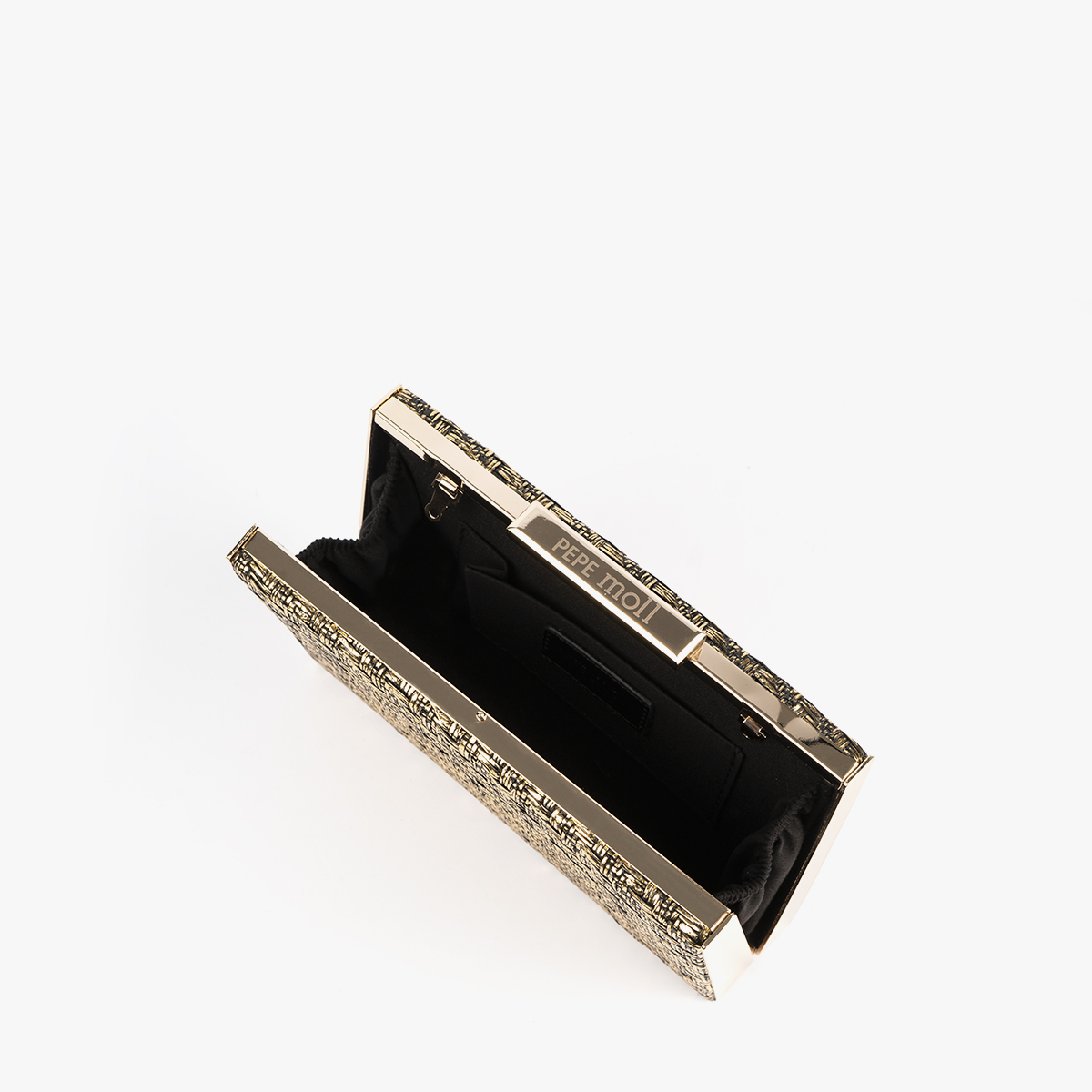 61030 bolso de mano dorado pepemoll perfil