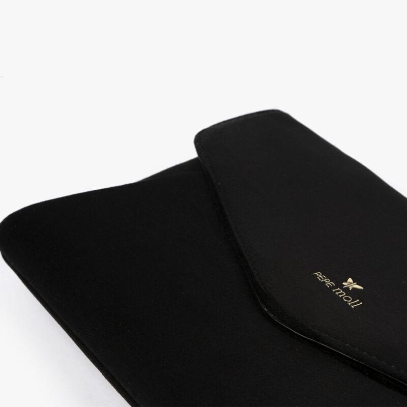 61035 bolso de mano negro detalle