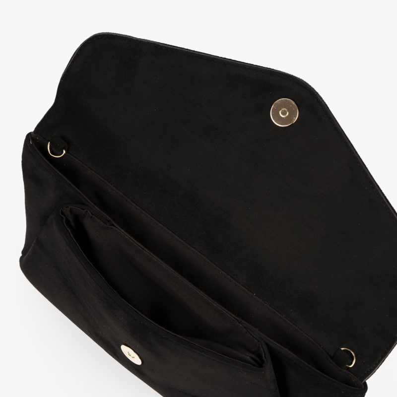 61035 bolso de mano negro interior
