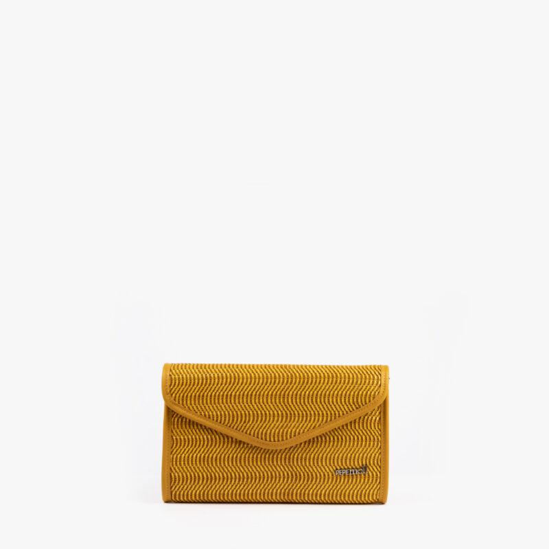 bolso de mano amarillo 61040 pepemoll frontal
