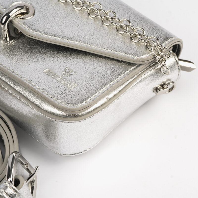 bolso de mano plata 61041 pepemoll detalle