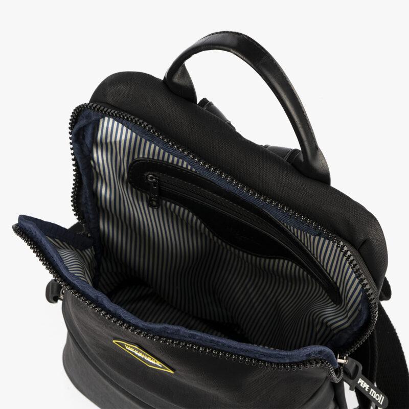 mochila negra h426 pepemoll interior