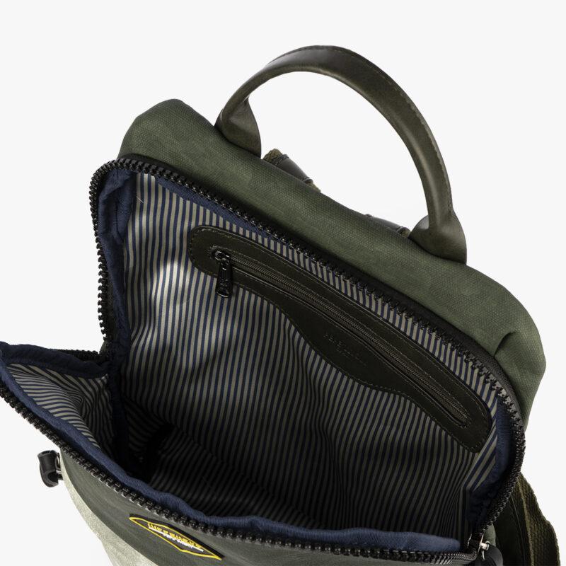 mochila verde h426 pepemoll interior