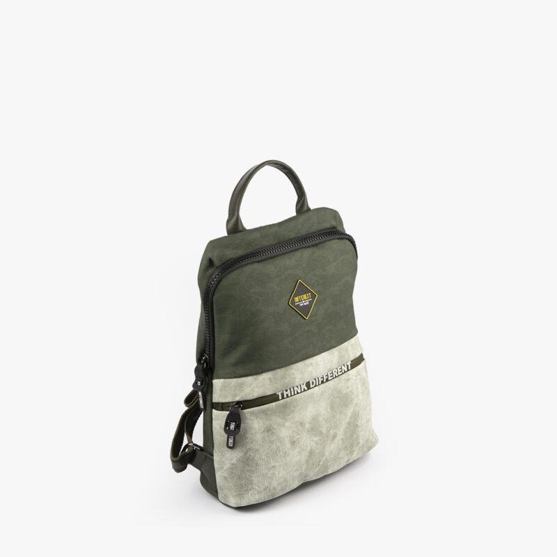 mochila verde h426 pepemoll perfil