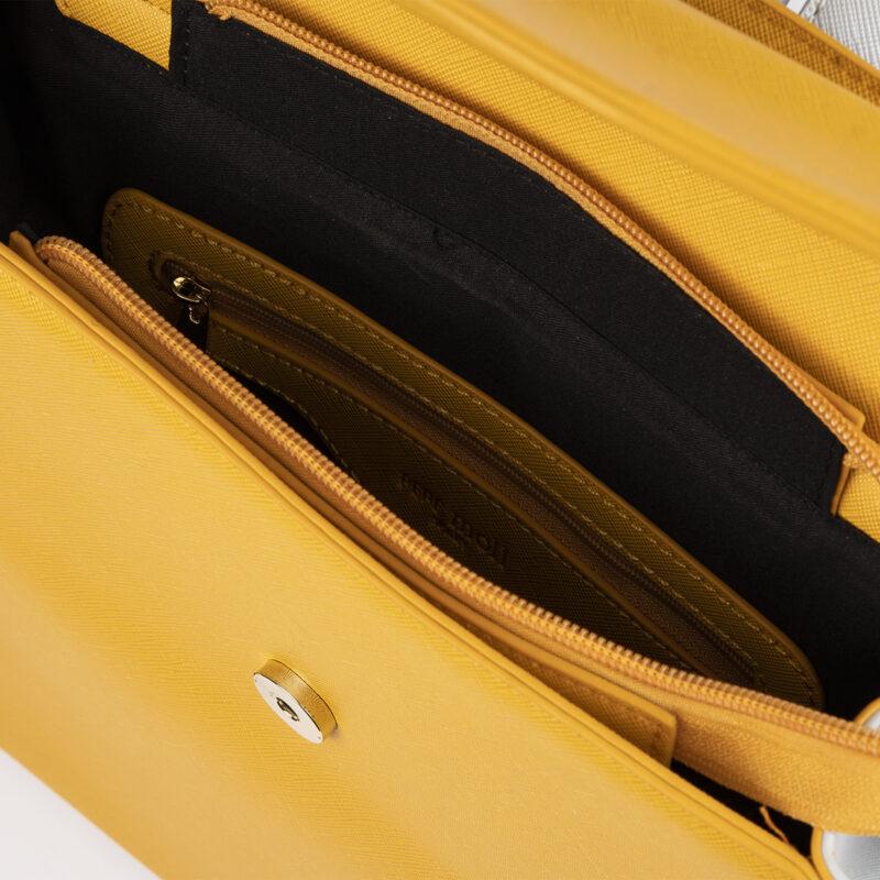 bolso mochila amarillo pepemoll 14127 interior