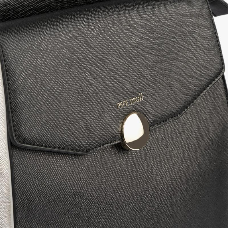 bolso mochila negro pepemoll 14127 detalle