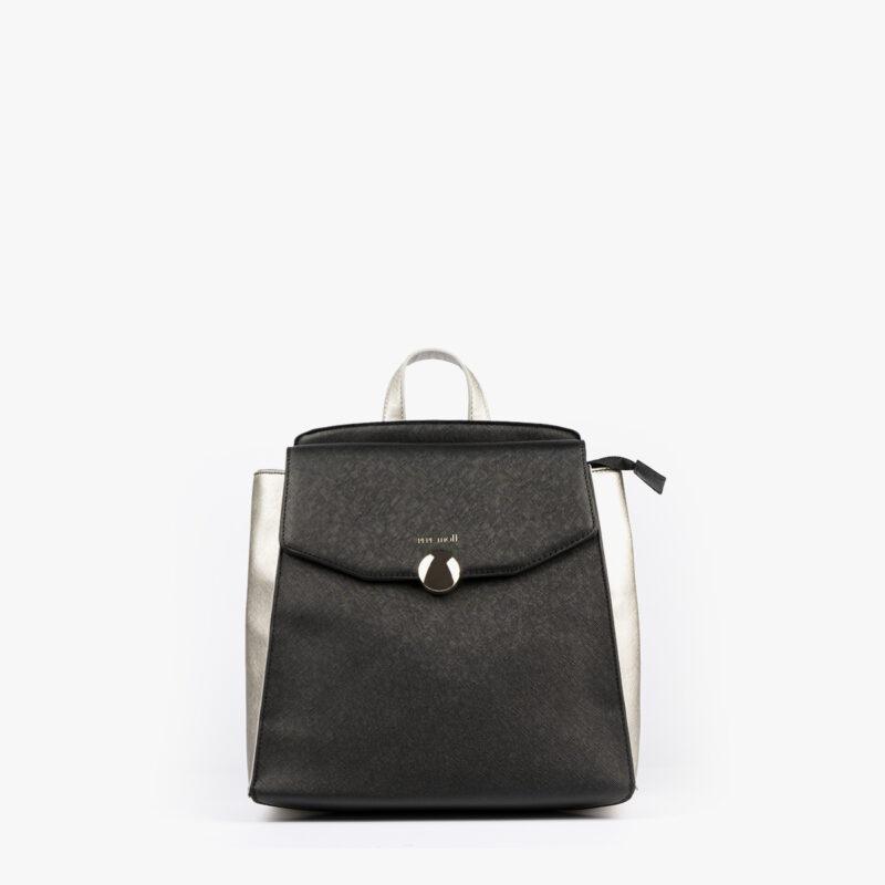 bolso mochila negro pepemoll 14127 frontal