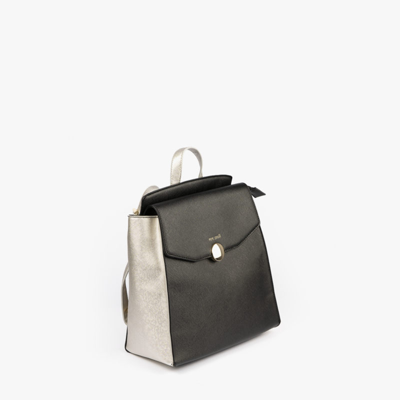 bolso mochila negro pepemoll 14127 perfil