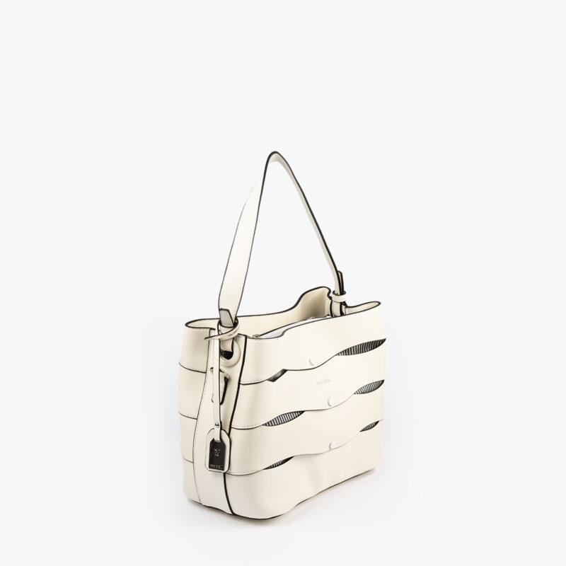 bolso de hombro en color blanco pepemoll 24120 perfil