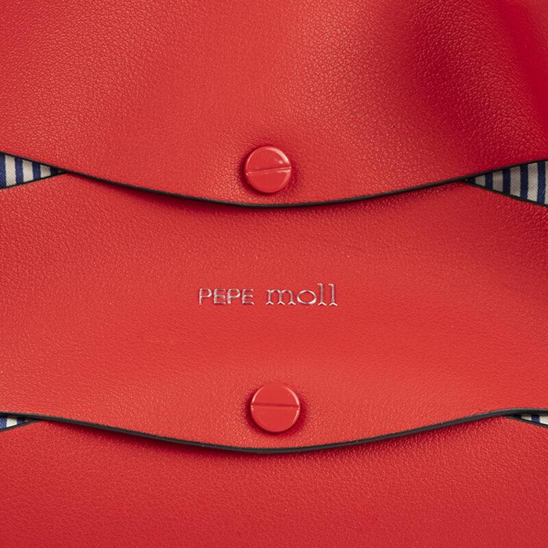 bolso de hombro en color rojo pepemoll 24120 detalle