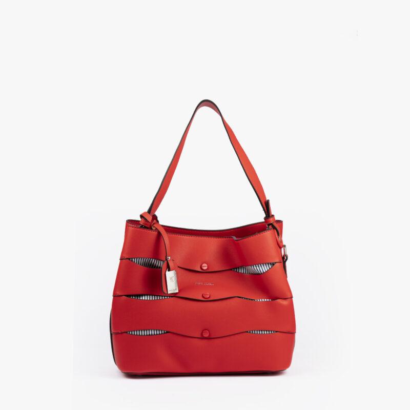 bolso de hombro en color rojo pepemoll 24120 frontal