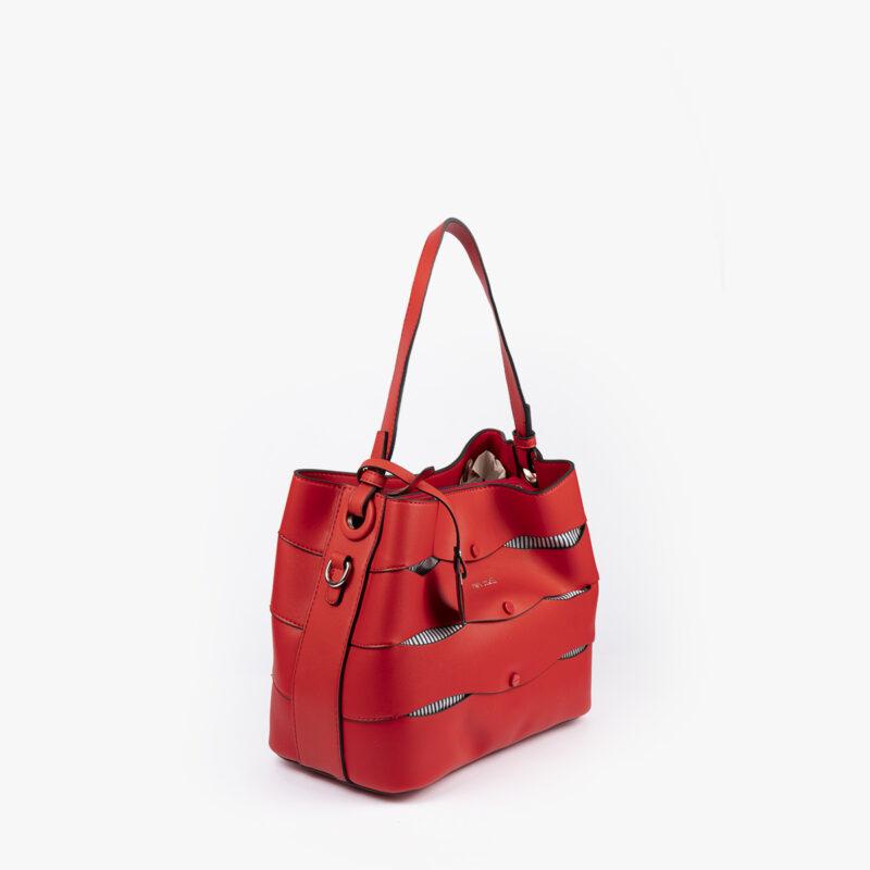 bolso de hombro en color rojo pepemoll 24120 perfil