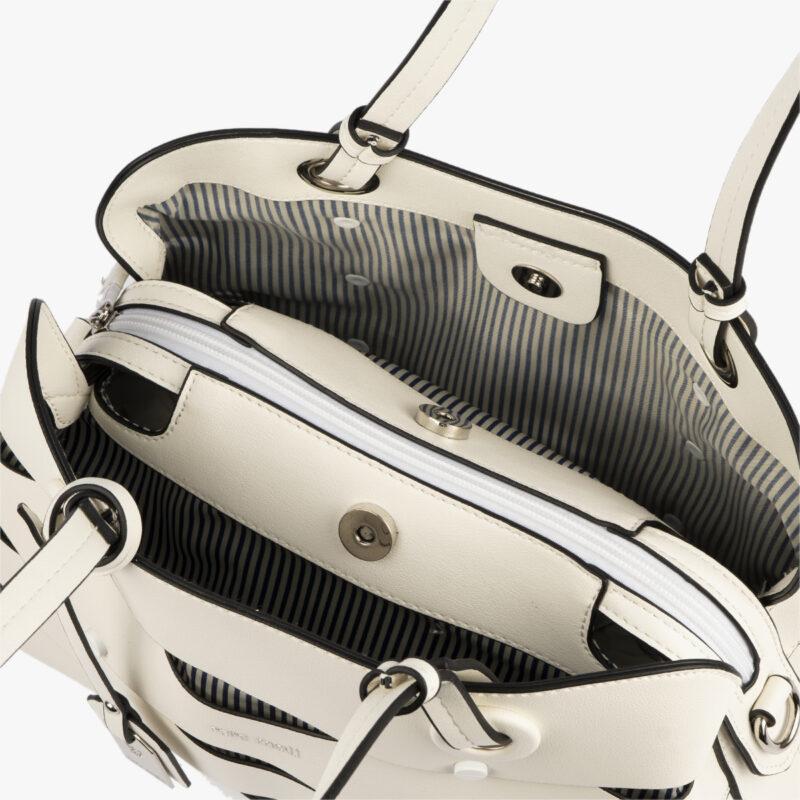 bolso de hombro en color blanco pepemoll 24121 interior