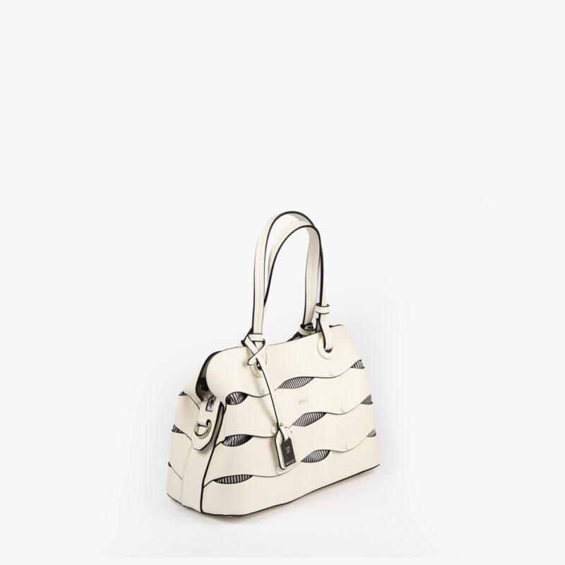 bolso de hombro en color blanco pepemoll 24121 perfil