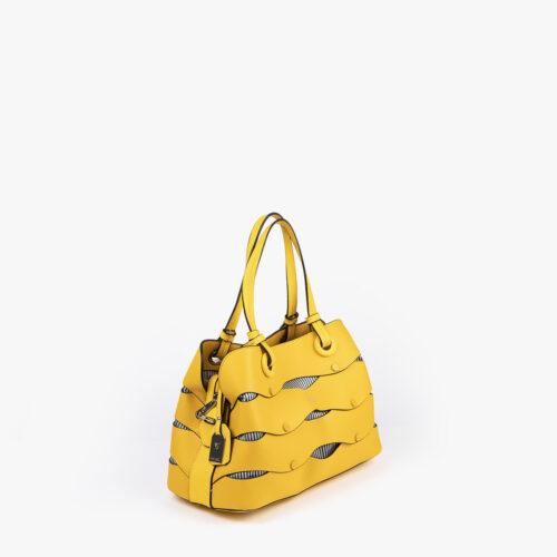 bolso de hombro en color amarillo pepemoll 24121