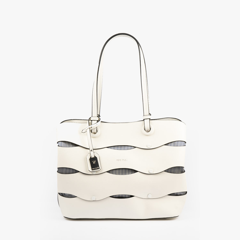 bolso de hombro en color blanco pepemoll 24122