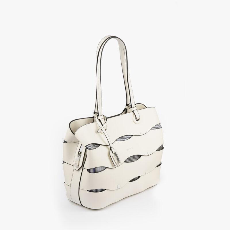 bolso de hombro en color blanco pepemoll 24122 perfil