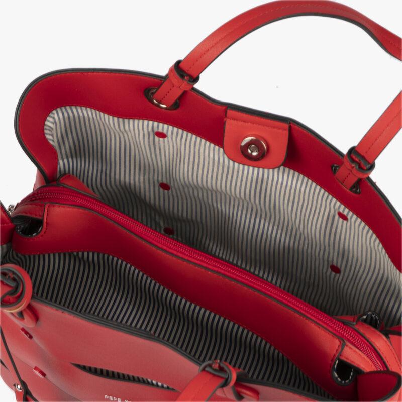 bolso de hombro en color rojo pepemoll 24122 interior
